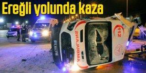 Ambulans Kazası 3 Yaralı