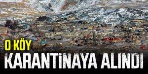 YAŞLI ÇİFTİN, KÖYÜ DE KARANTİNA ALTINA ALINDI
