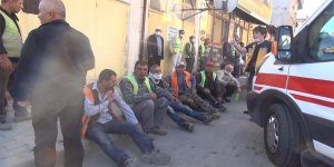 İşçi servisi ile ticari taksi çarpıştı : 16 yaralı