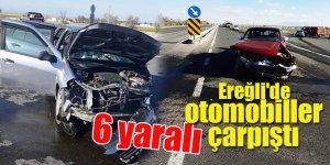 Ereğli'de otomobiller çarpıştı: 6 yaralı