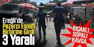 Pazarcıların yer kavgasında 3 kişi yaralandı