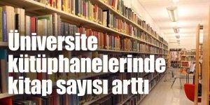 Üniversite kütüphanelerinde kitap sayısı