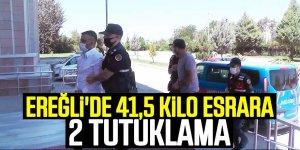 EREĞLİ'DE 41,5 KİLO ESRARA 2 TUTUKLAMA