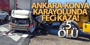 Gurbetçi ailenin otomobili tıra çarptı: 5 ölü