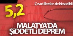 Malatya'da 5,2 büyüklüğünde deprem! Deprem anı böyle görüntülendi