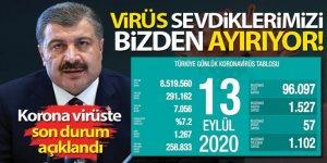 Son 24 saatte korona virüsten 57 kişi hayatını kaybetti
