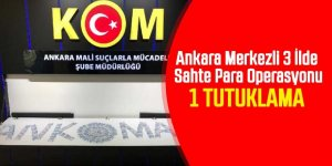 Ankara merkezli 3 ilde sahte para operasyonu: 1 tutuklama