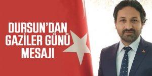 AK Parti Ereğli İlçe Başkanı Zübeyir Dursun, 19 Eylül Gaziler Günü münasebetiyle bir mesaj yayınladı.