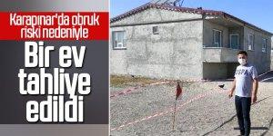 Karapınar'da obruk riski nedeniyle ev tahliye edildi