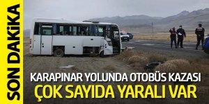 Otobüs yoldan çıktı 14 yaralı