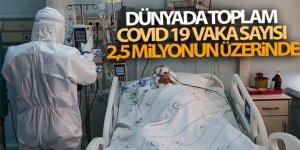 Dünyada toplam Covid 19 vaka sayısı 2,5 milyonun üzerinde