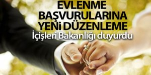 İçişleri Bakanlığından evlenme başvurularına yeni düzenleme