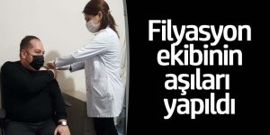 Ereğli'de Filyasyon ekibi aşısını yaptırdı