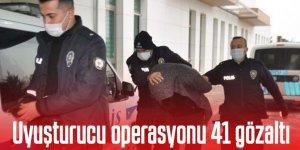 550 polisle uyuşturucu operasyonu 41 gözaltı