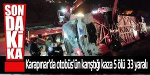 Tipi ve buzlanma kaza; 5 ölü, 33 yaralı