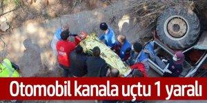 Kanala düşen traktör sürücüsü kurtarıldı