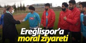 Başkan Oprukçu Ereğlispor'a moral ziyareti gerçekleştirdi