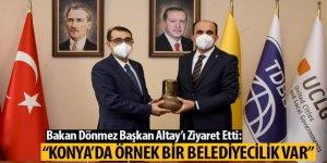 """Bakan Dönmez: """"Konya'da Örnek Bir Belediyecilik Var"""""""