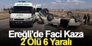 Tarım işçilerini taşıyan minibüs takla attı: 2 ölü, 6 yaralı