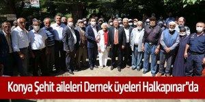 """Konya Şehit aileleri Dernek üyeleri Halkapınar""""da"""