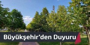 Büyükşehir'den Duyuru