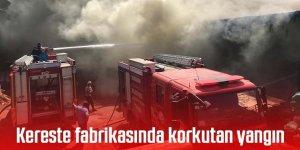Kereste deposunda korkutan yangın