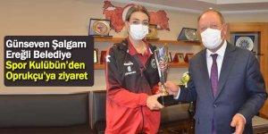 Günseven Şalgam Ereğli Belediye Spor Kulübün'den Oprukçu'ya ziyaret