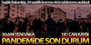 Son 24 saatte korona virüsten 181 kişi hayatını kaybetti